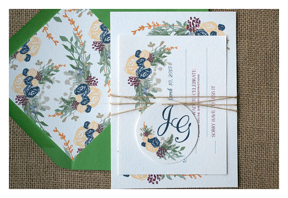 green vintage boho style with envelope liner