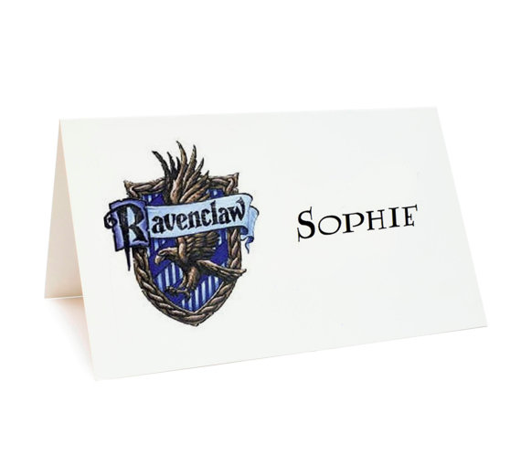 harry potter wedding place cards