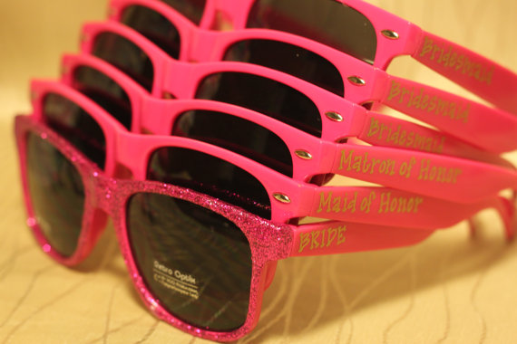 hot pink sunglasses | How to Plan the Best Beach Bachelorette Party | http://emmalinebride.com/how-to/plan-beach-bachelorette-party