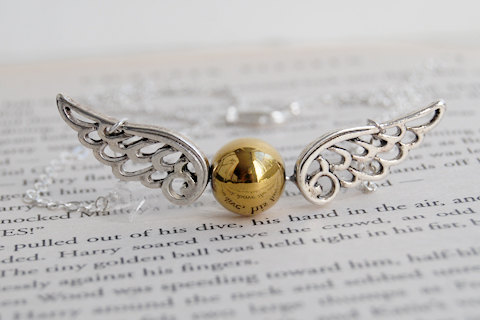 the golden snitch necklace harry potter wedding