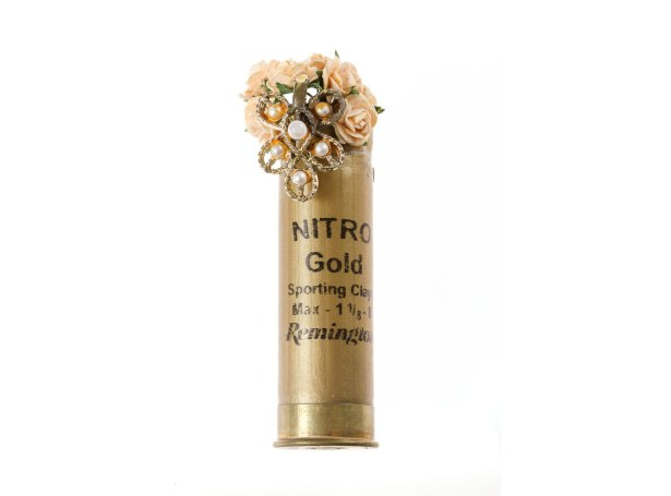 the ritzy rose boutonniere gold shotgun shell