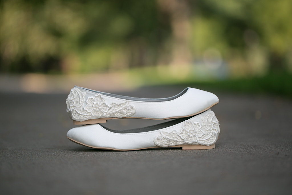 55737943b6d RELATED  7 Wedding Dress Shopping Mistakes to Avoid · white ballet flats
