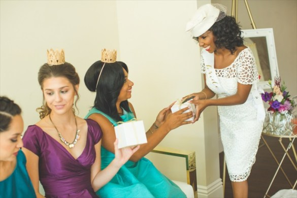 """Royal Tea """"Be My Bridesmaid"""" Party Inspiration"""