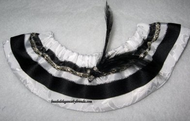 black and white garter