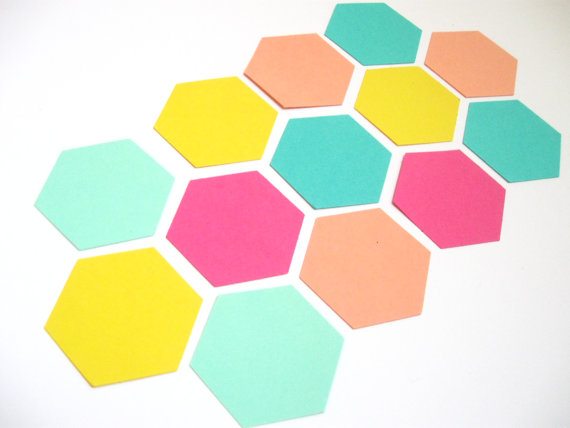 hexagon garland by VanCocoaDesigns