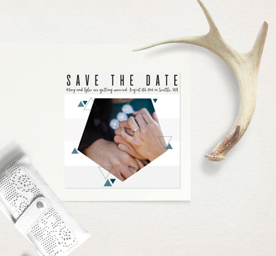 hexagon save the date by WhiteHouseStudioUS