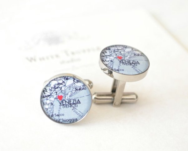 map cuff links