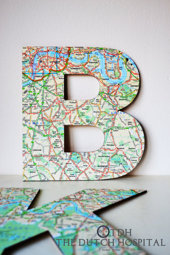 map letter decor by thedutchhospital