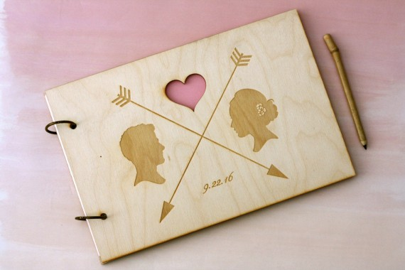guest book with cameo detail | silhouettes weddings | http://emmalinebride.com/decor/silhouettes-weddings/