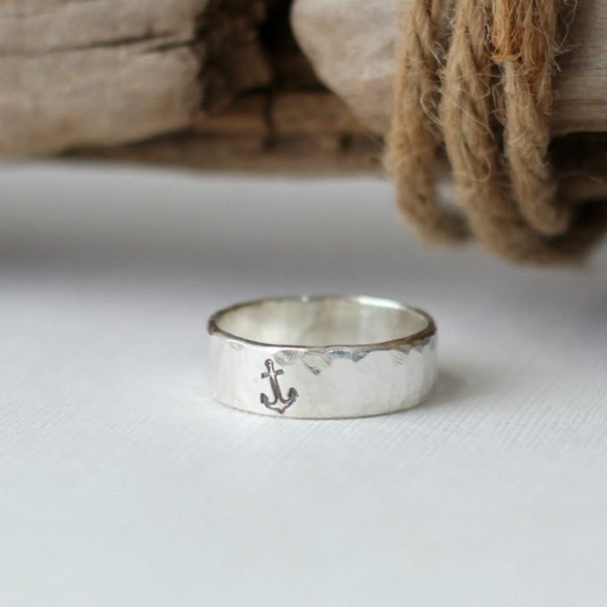 nautical wedding theme ring