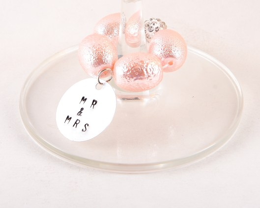 best day ever wine charms - mr and mrs