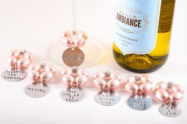 best day ever wine charms