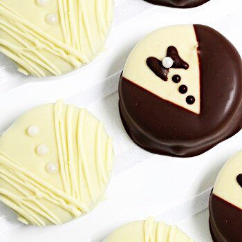 chocolate covered oreos bride and groom