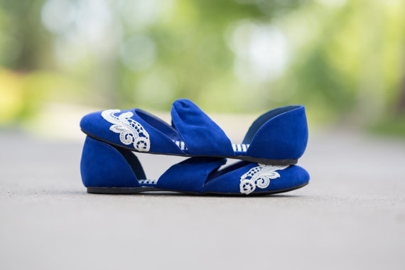 cobalt blue flats by walkinonair