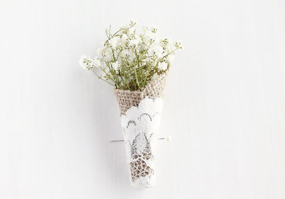 dried baby's breath boutonniere