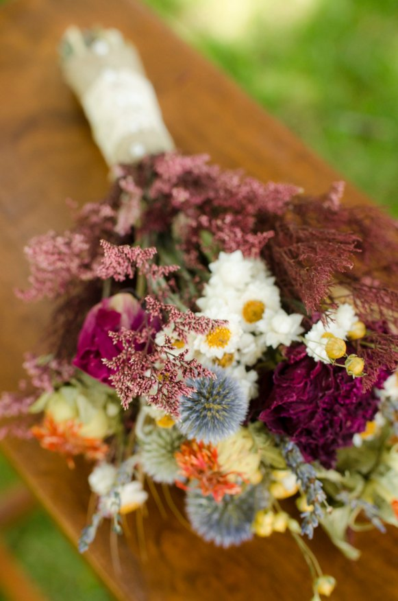 dried bridesmaid bouquet