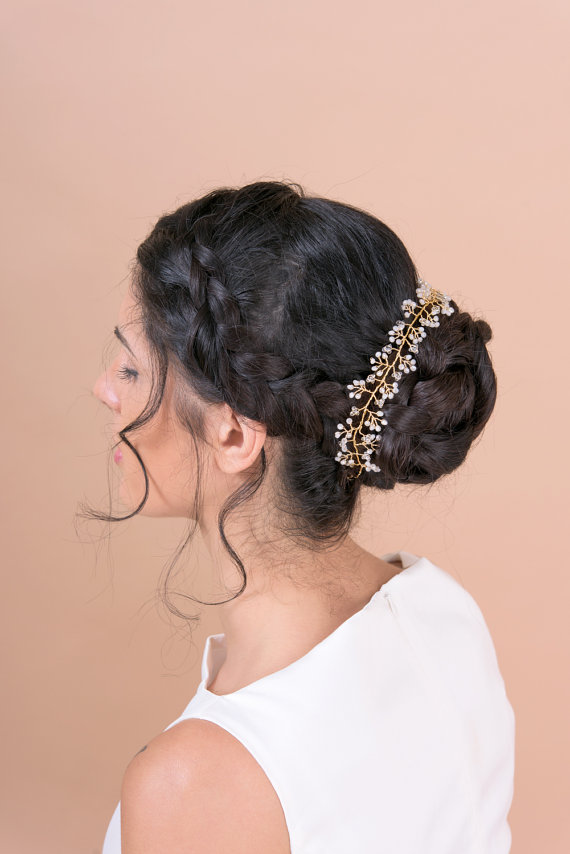 hair vine headband wrapped around bun