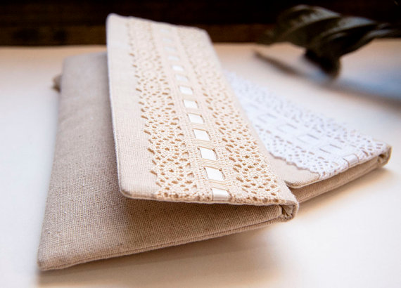 lace foldver clutch