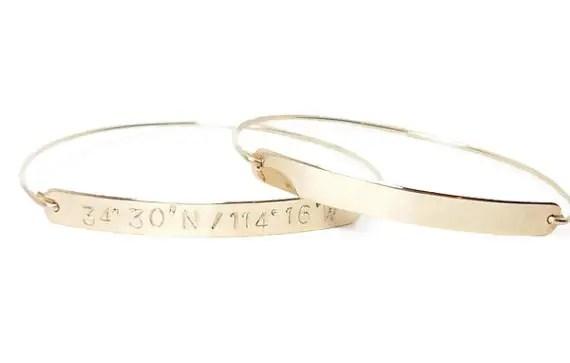latitude longitude gold bracelet