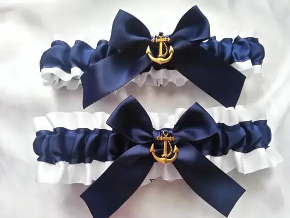 Nautical Wedding Garters By AussieWeddingGarters | Via 50+ Nautical Wedding  Theme Ideas At EmmalineBride.