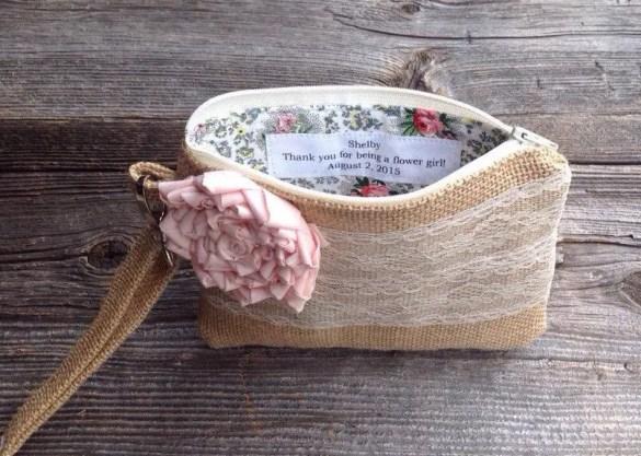 Cute Burlap Clutches for Bridesmaids