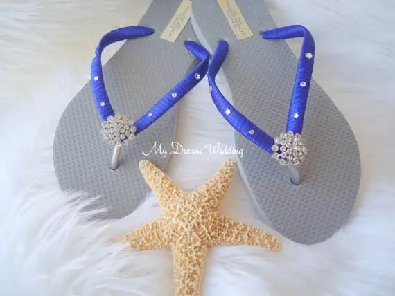 royal blue flip flops