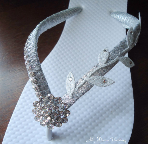 silver leaves greek inspired flip flops