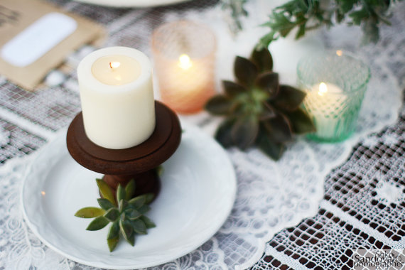 wood cupcake candle stand