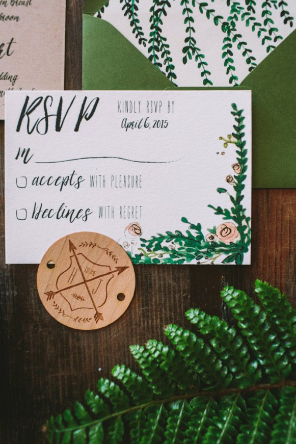 Rustic and Whimsical Garden Wedding Invitation - 2