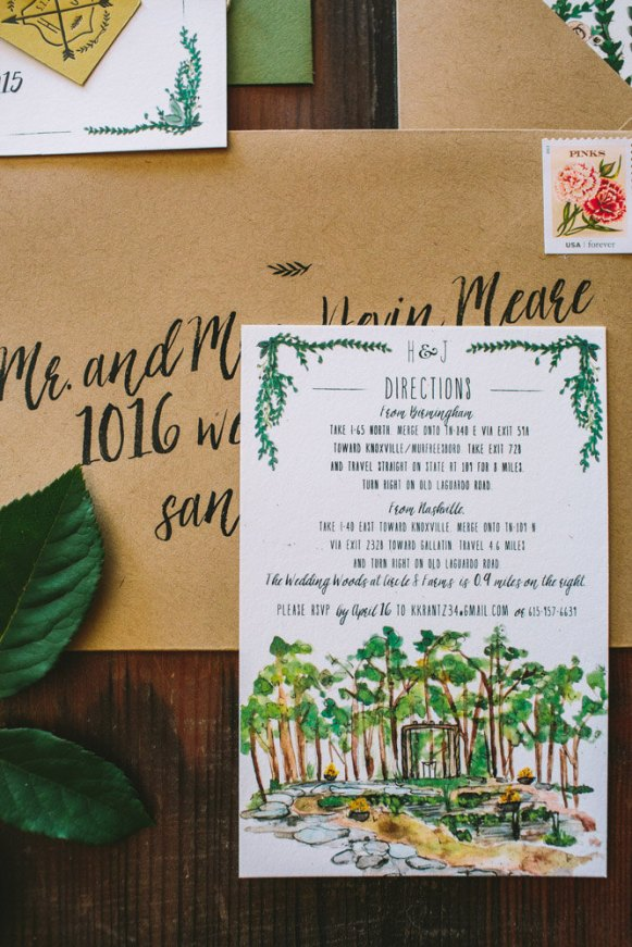 Rustic and Whimsical Garden Wedding Invitation - 4