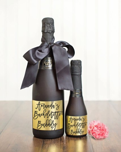 bachelorette bubbly bottle labels by paperandlace