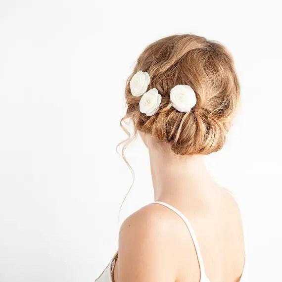bridal rose hair pins - 1