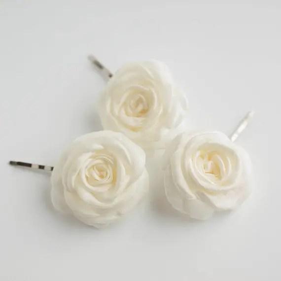 bridal rose hair pins - 2