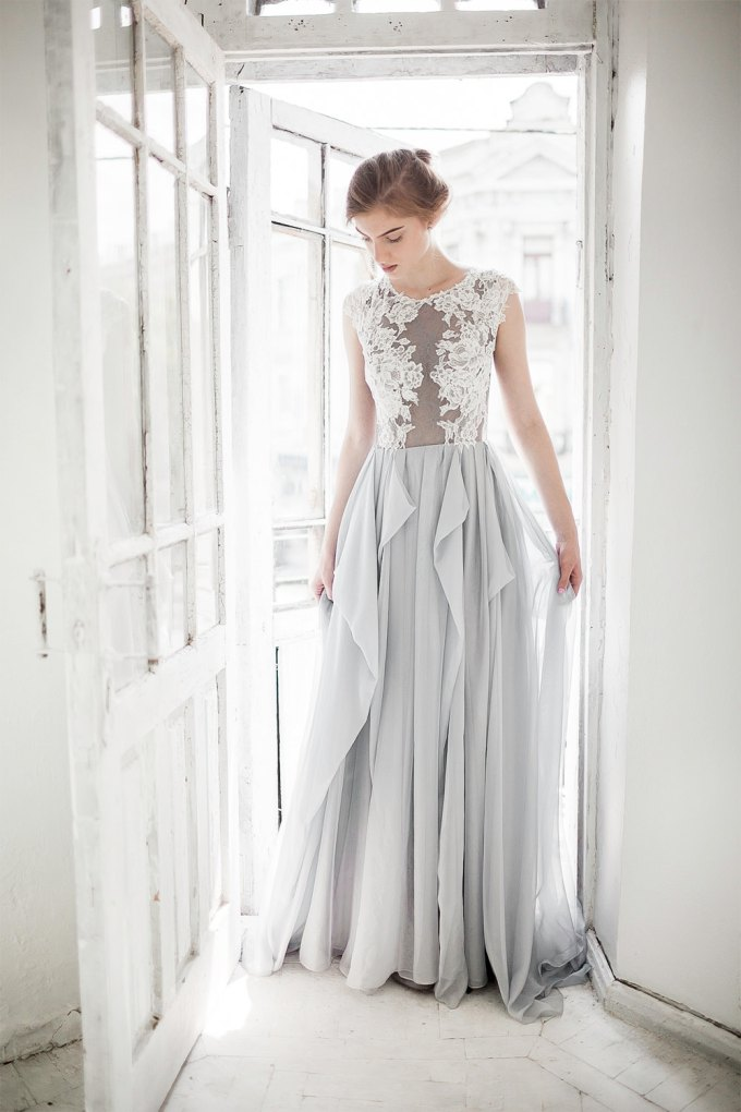 gray wedding dresses 9 colorful wedding dresses prove you don t to wear white 4597