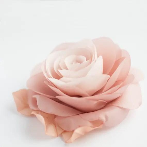 dusty rose hair flower - 2