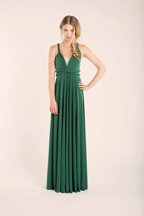emerald green convertible bridesmaid dress