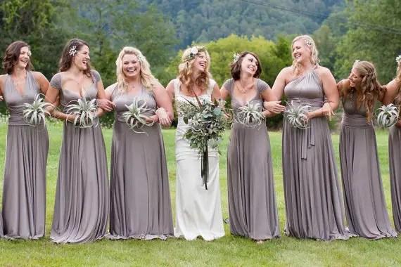 grey infinity convertible bridesmaid dresses