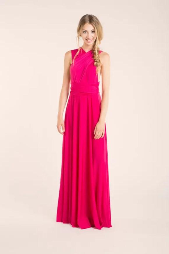 hot pink infinity dress