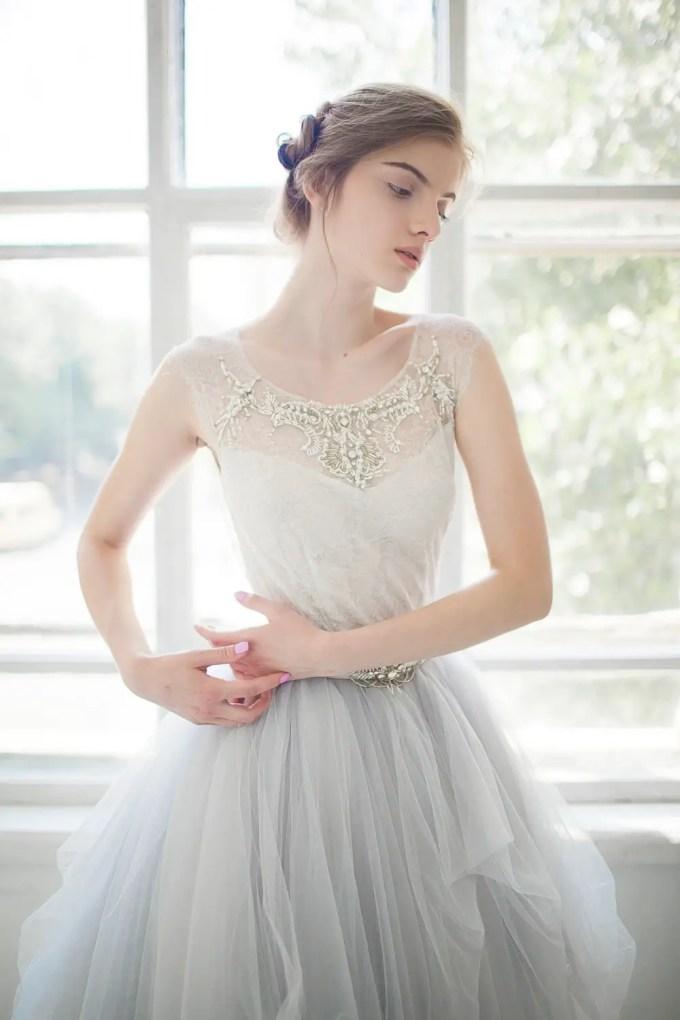 tulle gardenia wedding dress