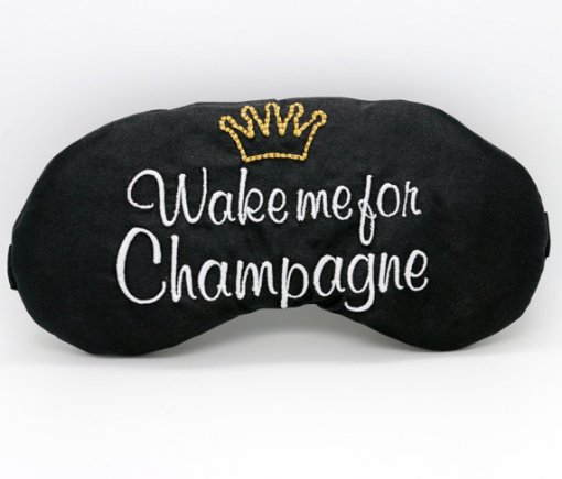 wake me for champagne sleep mask by the sleepy cottage