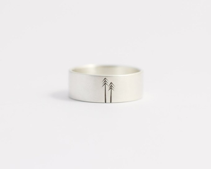 woodland wedding band | unique wedding bands for men