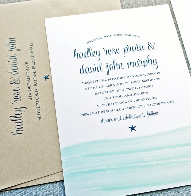 blue waves invitations
