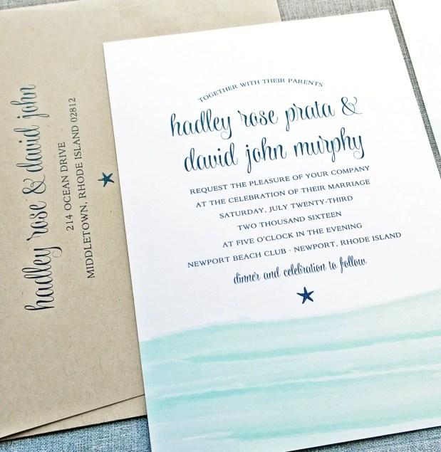 blue waves invitations