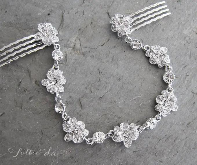 boho bridal hair chain image