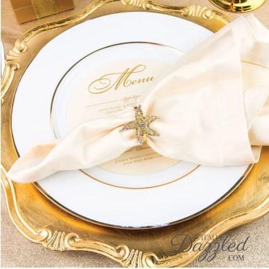 crystal starfish napkin ring