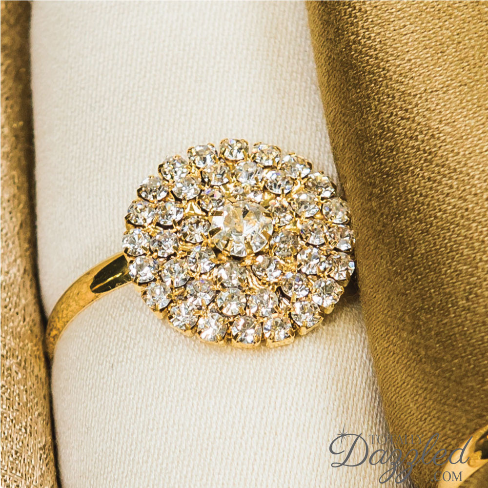 Napkin Rings For Wedding 39 New gold rhinestone napkin ring