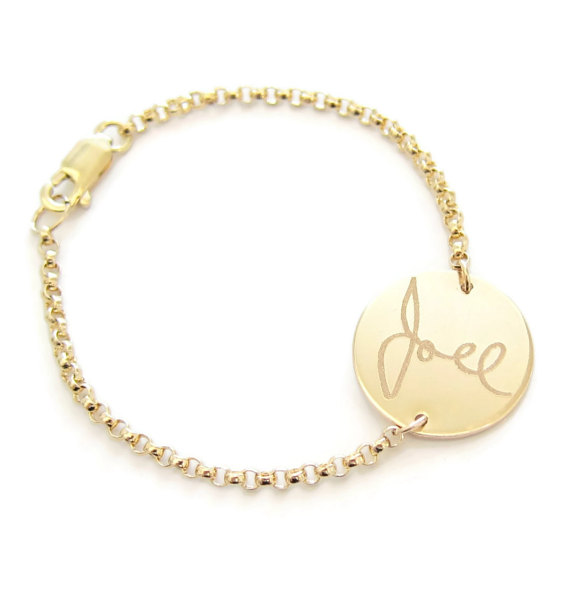 handwriting jewelry gift bracelet - handwritten jewelry gifts | http://emmalinebride.com/gifts/handwritten-jewelry/