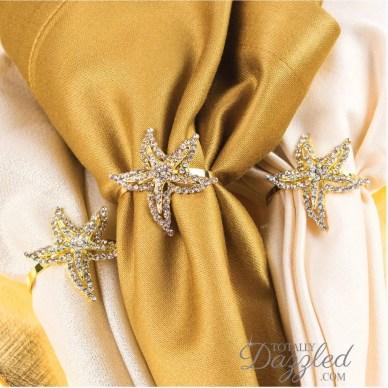 starfish napkin rings