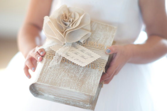 with this ring i thee wed ring bearer book | 41 Beautiful Rustic Ring Pillows on Etsy | http://emmalinebride.com/rustic/ring-pillows-etsy-weddings/
