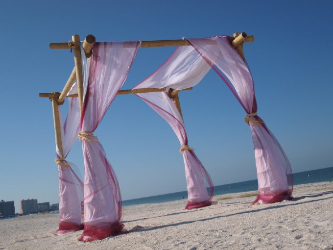 beach wedding arch by BeachWeddingSupply | Where to Buy Wedding Arches | http://emmalinebride.com/ceremony/arches-weddings/